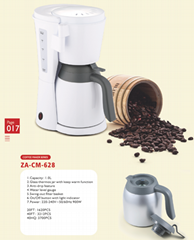 Coffee Maker with thermos glass jar  capacity 1.0L  6 cups