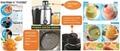 Juicer extractor 0.5L juice jar  2 kinds of rotation speed  4