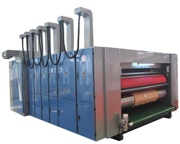 Rotary die-cutting machine with flexo printer 1