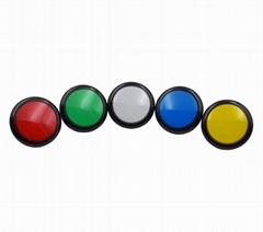 Flat Top Arcade Ip67 Slot Machine 5v LED 100mm LED Illuminated Push Button Switc