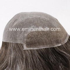 Human Hair Natural Soft Men's Toupee