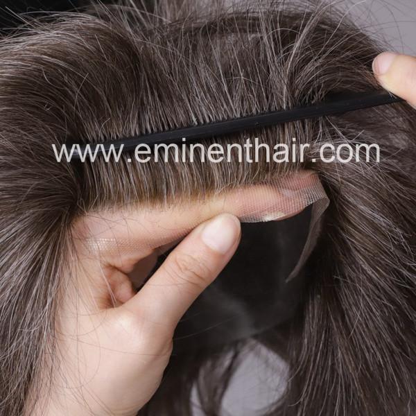 Human Hair Natural Soft Men's Toupee 2