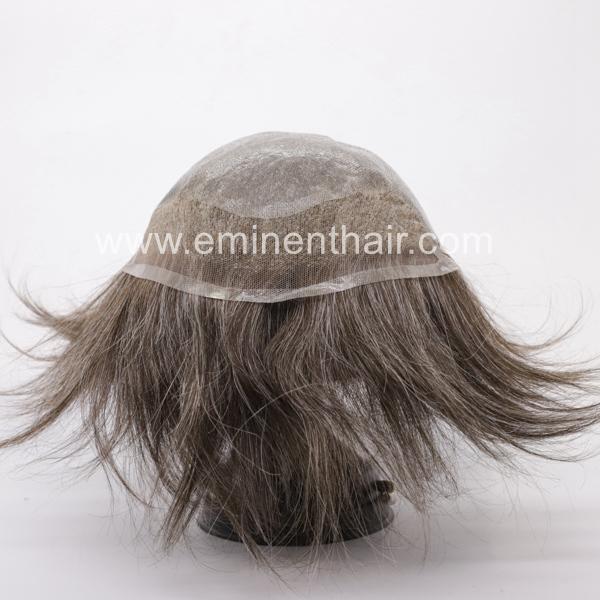 Human Hair Natural Soft Men's Toupee 3