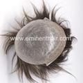 Human Hair Natural Soft Men's Toupee 4