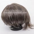 Human Hair Natural Soft Men's Toupee 5