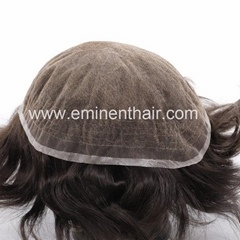 Bleach Knot Soft Hair Replacement Toupee