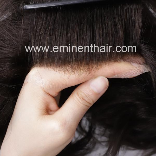 Bleach Knot Soft Hair Replacement Toupee 2