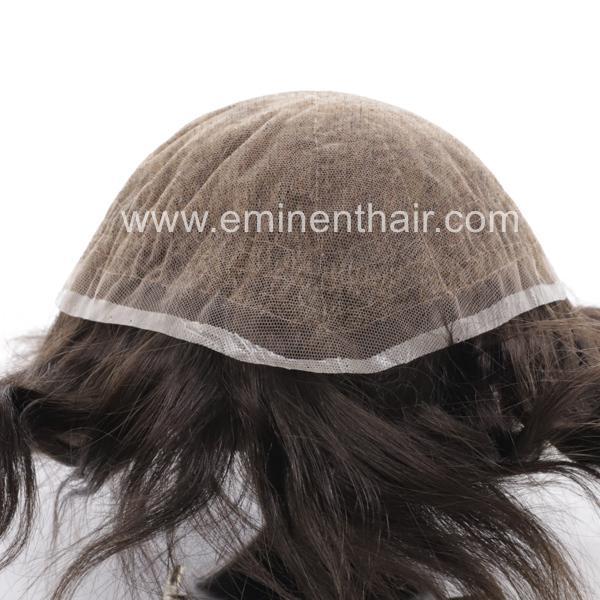 Bleach Knot Soft Hair Replacement Toupee 3