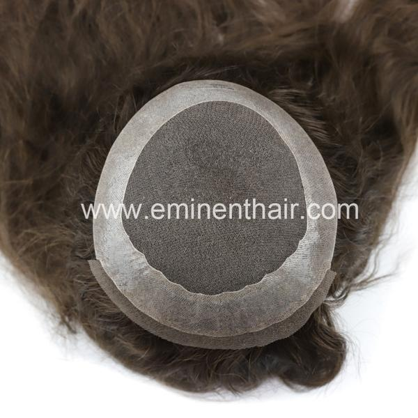 Lace with Clear PU Edge Silk Top Wigs 4