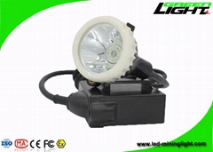 mining corded cap lamp 6.6Ah rechargeable li-ion battery