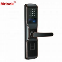 Mrlock high quality electronic Intelligent biometric fingerprint alarm door lock