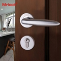 Mrlock stainless steel lock interior indoor solid handle bedroom door lever lock 2