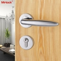 Mrlock stainless steel lock interior indoor solid handle bedroom door lever lock 5