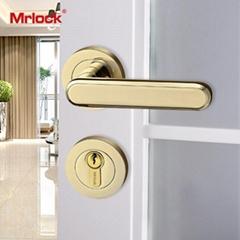 Mrlock interior indoor solid casting door lever handle lock