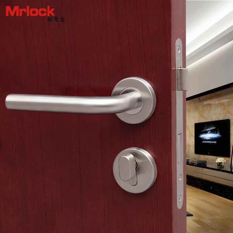 Mrlock door handle lock interior indoor tubular door lever lock 4