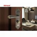 Mrlock Zink Alloy front storm door handle with lock 3