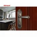 Mrlock Zink Alloy front storm door handle with lock 5