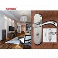 Mrlock popular design backplate stainless steel door lever handle 3