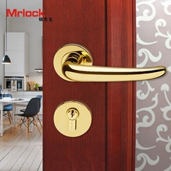 rosette door handle luxury gold door lever handle lock