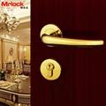 rosette door handle luxury gold door lever handle lock 2