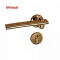 Mrlock stainless steel lock Wholesale interior indoor solid Lever Door handle  2