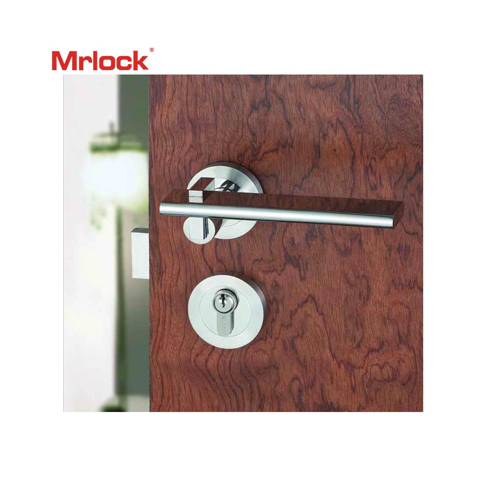 Mrlock stainless steel lock Wholesale interior indoor solid Lever Door handle  4