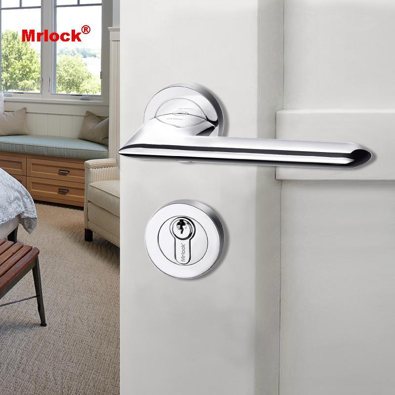 Mrlock solid door lever handle with lock 2