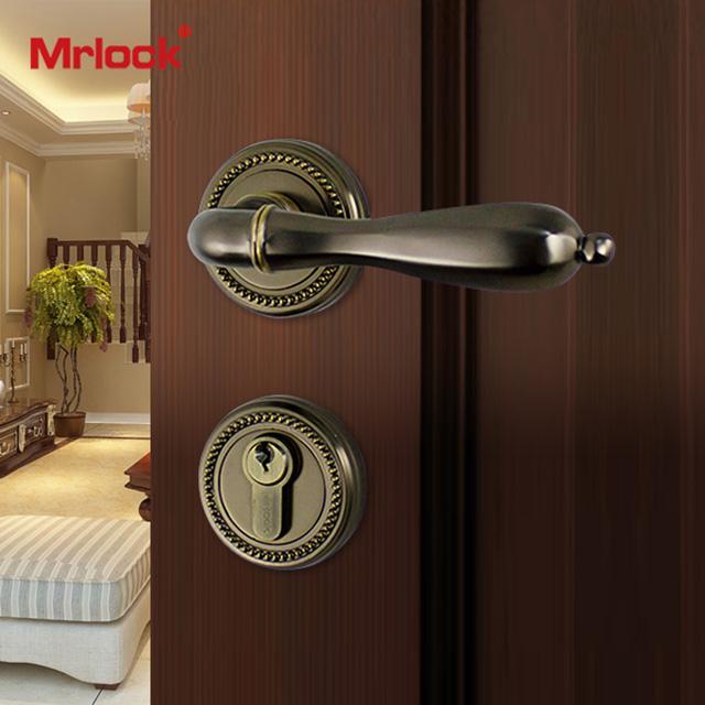 Mrlock interior indoor lock door lever handle lock 3