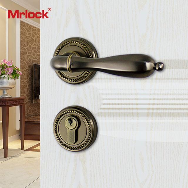 Mrlock interior indoor lock door lever handle lock 4