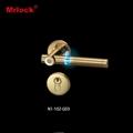 Visional shine door handle manual operation mortise lock 3