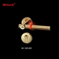 Visional shine door handle manual operation mortise lock 4
