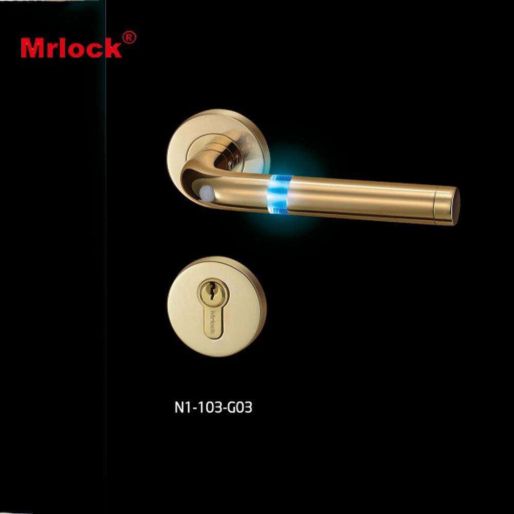 Stunning fashion electronic flash door lock handle 5