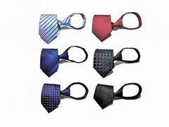 New Design Pre-tied Necktie Zipper Ties