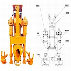 30-ton excavator with agitator hydraulic silt removal pump