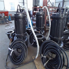 High temperature and abrasion resistant submersible slurry pump