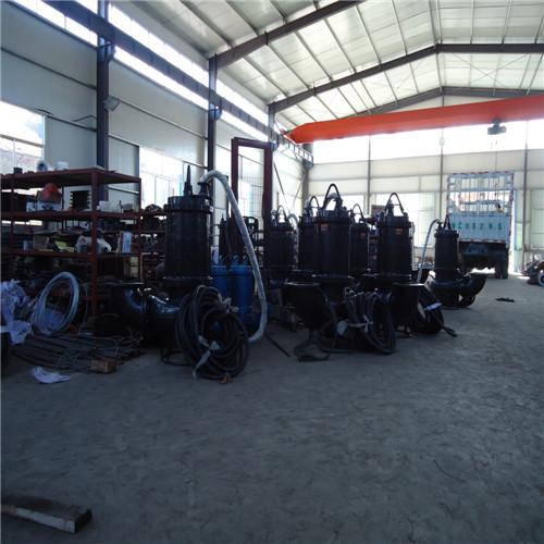 Submersible abrasion-resistant sand pump with agitator 1