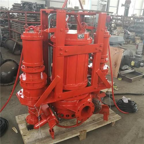 Submersible abrasion-resistant sand pump with agitator 2