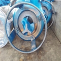 Vertical submerged stirring mud pump