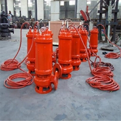Cutting submersible sewage pump with spiral reamer