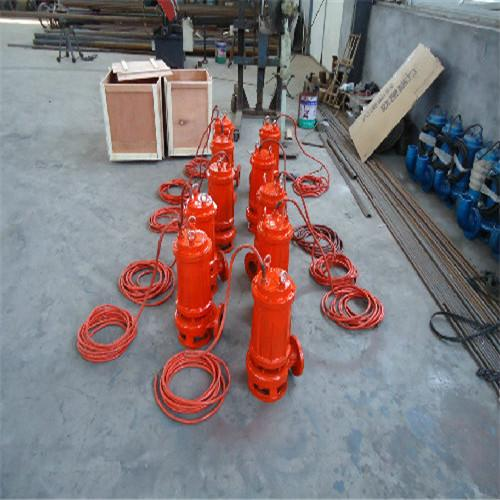 Cutting submersible sewage pump with spiral reamer 2
