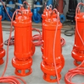 Cutting submersible sewage pump with spiral reamer 5