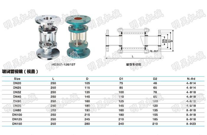 玻璃管视镜规格
