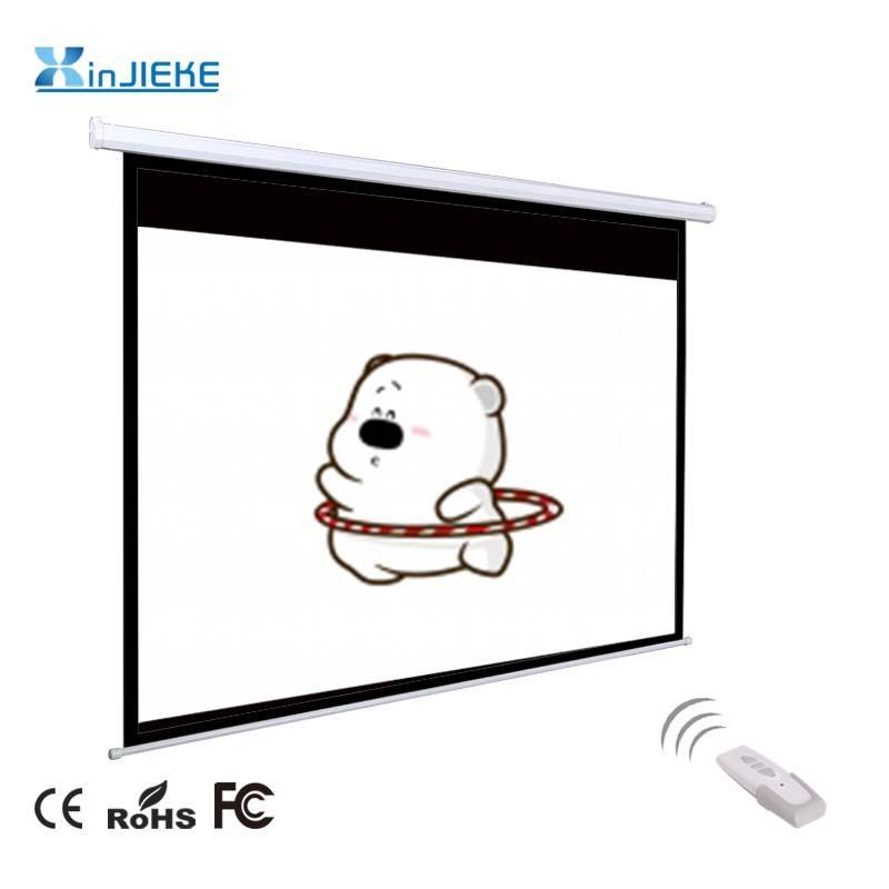 電動投影幕布投影儀機幕布辦公家用培訓用壁挂屏幕高清投影幕 4