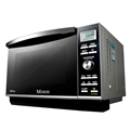 Large flat plate microwave oven
