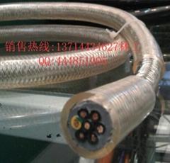 高柔性双护套屏蔽电缆 透明双护套拖链电缆 鑫联成供