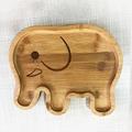 Bamboo plate, Birthday Fruit Platters for Kids plate, bamboo elephant shape plat 1