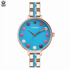 XINBOQIN Factory Custom Brand Luxury High Quality Quartz Acetate Lady Watch