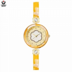 XINBOQIN Manufacturer Custom LOGO Latest Model Quartz Acetate Women's Watch