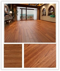 PVC flooring glue down light brown color Wooden effect long lasting easy to cle