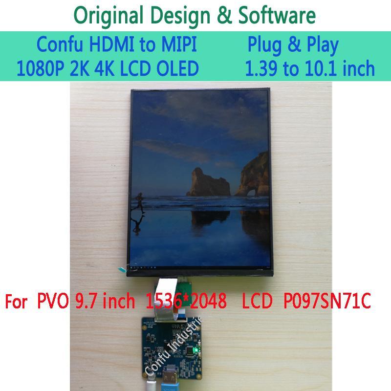 Confu HDMI to MIPI DSI Driver Board for PVO 9 7 inch 1536*2048 LCD